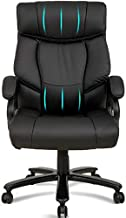 Office Chair Big and Tall High Back Executive Desk Chair for Heavy People 400 LB, PU Leather