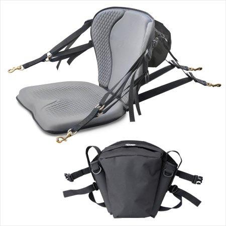 Surf To Summit GTS Pro Molded Foam Kayak Seat with Fishing Pack, Sit On Top Kayak Seat, Back Support Kayak Seat, Kayak Cushion