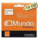 Orange Spain - Tarjeta SIM Prepago 10 GB en España | 400 Minutos Nacionales e internacionales | Activación Solo Online en www. marcopolomobile .com
