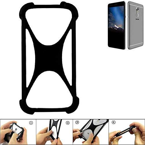 K-S-Trade Handyhülle für Phicomm Energy 4s Schutz Hülle Silikon Bumper Cover Case Silikoncase TPU Softcase Schutzhülle Smartphone Stoßschutz, schwarz (1x)