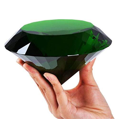DANHUI Enorme Color Cristal Diamante pisapapeles artesanías de Cuarzo hogar Boda decoración Adornos figuritas Regalos de Recuerdo en Miniatura (Color : Green, Size : 120mm)