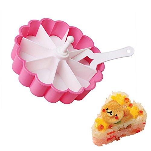 Oumosi Easy-removing Plastique Pochoir Shaper en forme de cœur Moule à Sushi Moule à gâteau DIY Décoration