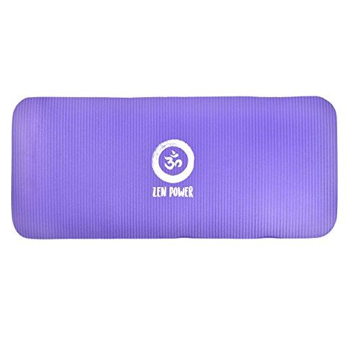 Zen Power Extra Dicke Knie-Schutzmatte, Knee-Pad für Yoga, 61x25x1,5cm, rutschfeste Kniematte aus hochwertigem NBR Schaum, Sitz-Kissen für Yoga Pilates Fitness Haushalt Garten und unterwegs