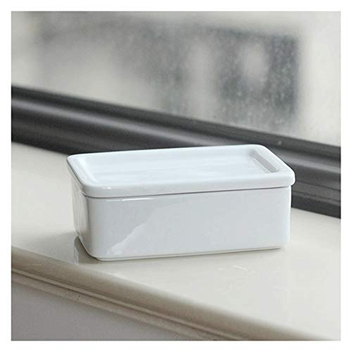 Butter Dishes Butter Container Rectangular Butter Container with a Lid. a White Butter Dish with Butter, Cheese and Cake Snacks. It Is The Best Choice for Gifts. Butter Holder Storage Butter Keeper Bu