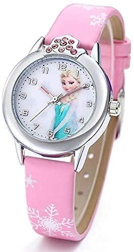 Kinder-Armbanduhr mit Lederarmband Motiv: Die Eiskönigin – Völlig unverfroren ELSA