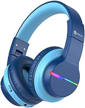 iClever BTH12 LED Lights Bluetooth Kids Headphones