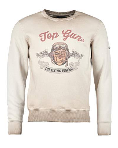 Top Gun Smoking Monkey Dark Beige Sudadera