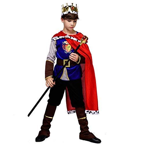 SEA HARE Costume da Re Medievale Deluxe per Ragazzo (10-12 Anni)