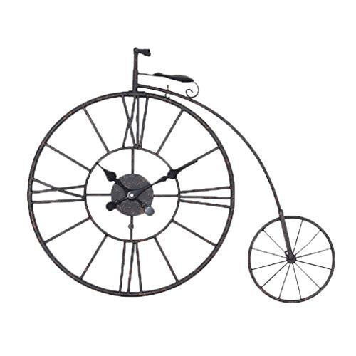 KIMSAI Ciondolo Rustico da Parete VintageAfflitto Vecchio Orologio da Parete in Ferro Battuto BiciclettaDecorazione MuraleOrologio da PareteGrande Orologio da PareteOrologio retrò,76 * 61cm
