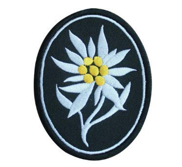 WWII WW2 German Army Elite Edelweiss Mountain Troops Embroidery Patch Military Tactical Clothing Accessory Backpack Armband Sticker Gift Patch Decorative Patch Embroidered Patch