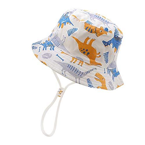 IBLUELOVER - Sombrero de sol para niño, niño, niño, niña, niña, niña, sombrero de cubo con correa...