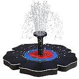 Yajun Mini Fuente Solar Bomba de Agua Flotante Jardín Piscina Estanque Panel Solar Decoración al Aire Libre para Baño de Pájaros, Pecera,