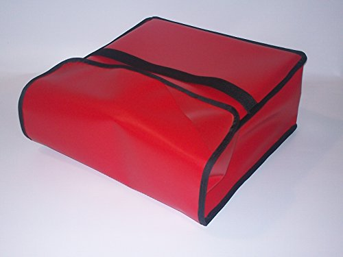 """TCB Insulated Bags PK-330-Red Insulated Pizza Delivery Bag, Holds 3 Each 28"""" Pizzas, 30"""" x 30"""" x 7"""", Red"""