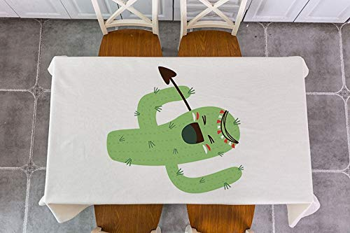 XXDD Mantel de decoración de Flecha de Plumas de Animales de Dibujos Animados Mantel de decoración Impermeable Mantel de Mesa de té Mantel A2 150x210cm