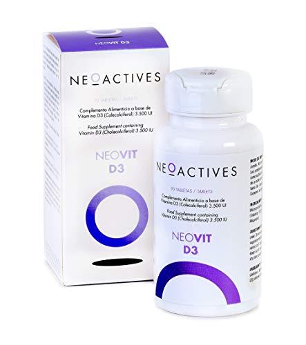 NeoVit D3 | Suplemento con 3,500 U.I. de vitamina D en forma de D3 | sistema inmunitario y mantenimiento músculos, huesos y dientes | Complemento concentrado, solo 1 capsula día | 90 Capsulas