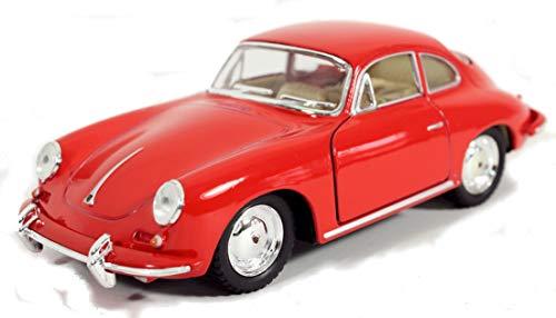 Schaepers Kaleidoskope Modellbil/Porsche 356 B/med returrätt /1:34 / ca 12 cm / fyra färger / röd/vit/blå eller grön, slumpmässig val/Porsche