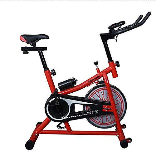 XIAOFEI Bicicletta da Spinning per Gioco Intelligente, Cyclette casa Muta, Attrezzature per Il Fitness Sportivo Indoor + Comfort di Seduta ergonomico,Ergometro,Rosso