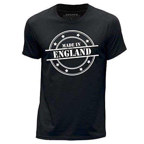 Stuff4 Herren/XX groß (XXL)/Schwarz/Rundhals T-Shirt/Made In England