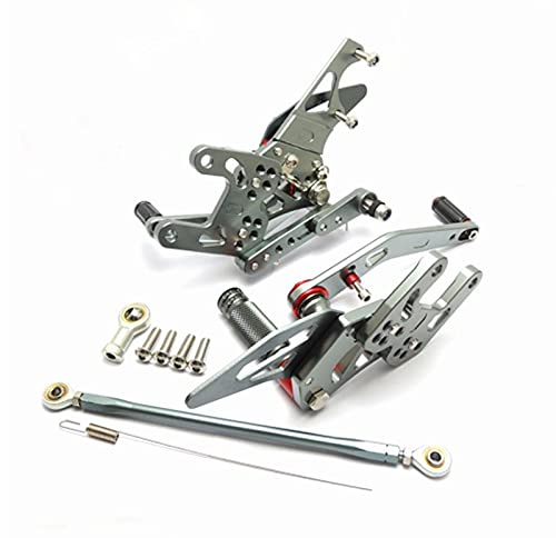 XJSM Accesorios De Reposapiés Ajustables De Aluminio CNC para Motocicleta para Honda CBR1000RR CBR 1000 RR 2008 2009 2010 2011 2012 2013 2014 Motocicleta (Color : Silver)
