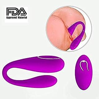 YQFCA Potente masajeador Remoto inalámbrico, 12 Modos de vibración silenciosa y Silicona Agradable para la Piel, masajeador Recargable por USB - 100% Impermeable