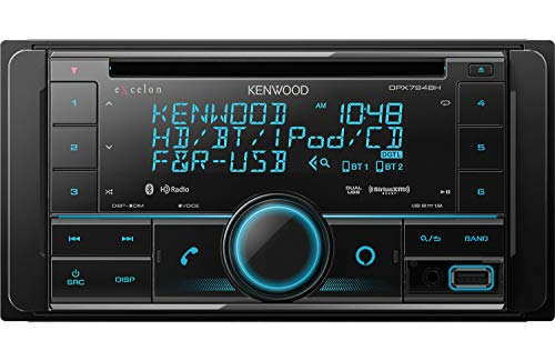 Kenwood Excelon DPX794BH Double DIN Bluetooth In-Dash Car Stereo CD Receiver with Amazon Alexa Compatibility