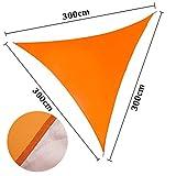 ENCOFT Tenda a Vela Impermeabile Triangolare 3x3x3m, Teli Ombreggianti Vela Parasole con Corda da...