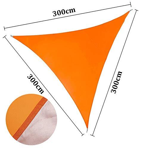 ENCOFT Sonnensegel Sonnenschutz für Terrasse Dreieckig 3x3x3 Wasserdicht Oxford Tuch 95% UV-Schutz für Garten,Balkon,Aussen,Orange