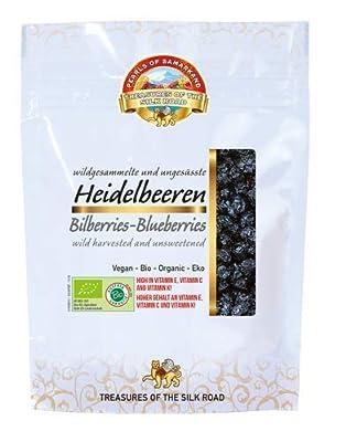 Organic unsweetened bilberries/blueberries 7x100 Grams GBP 4,99/Bag - GBP 34,93/box from Lemberona GmbH