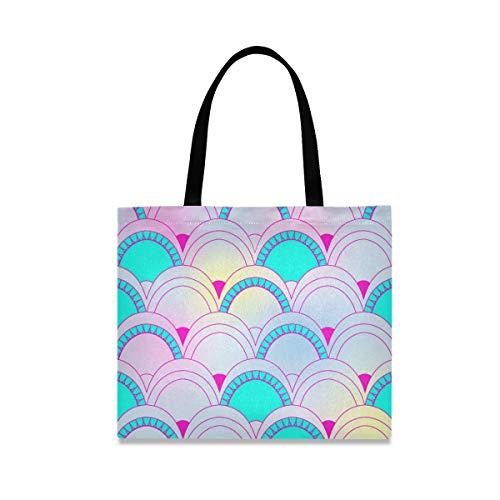 Mnsruu Waage Einkaufstasche Damen Gym Bag Große Canvas Tote Bag Yoga Handtasche