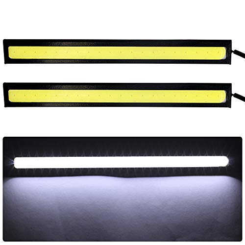 shunyang Car Replacement 14cm COB LED Strip Lights Super Bright DRL Fog Driving Lamp Waterproof 12V White 2 pcs