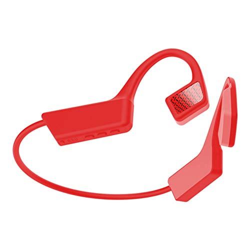 Cuffie Bluetooth a Conduzione Ossea Wireless,MoreChioce Lightweight Bluetooth 5.0 Stereo Sweatproof Auricolari Bluetooth Sportive Conduzione Ossea per Attività All'aperto Ciclismo Sport Guidare,Rosso