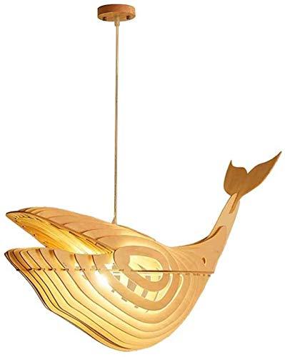 Lámparas de araña - Lámpara Colgante Luz colgante, DIY Ballena moderna Techo de madera Lámparas colgantes de techo con cordón ajustable for la cocina Isla Comedor Sala de estar Habitaciones Espacio de