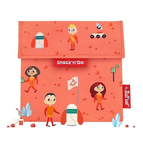 Roll'eat - Snack'n'Go Kids - Bolsa Merienda Porta Sandwich Ecológica y Reutilizable sin BPA, Space