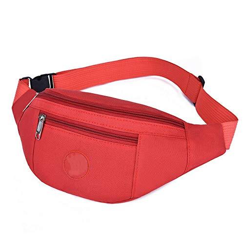 WSGYA - Cartera con cremallera para hombre y mujer, color Rojo, tamaño 34x15x2cm