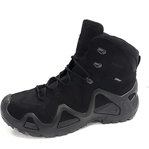 Lowa, scarpe da caccia, modello: Zephyr GTX® MID TF, per attività all'aperto, escursioni, camminate, da uomo, (Black), 47 EU