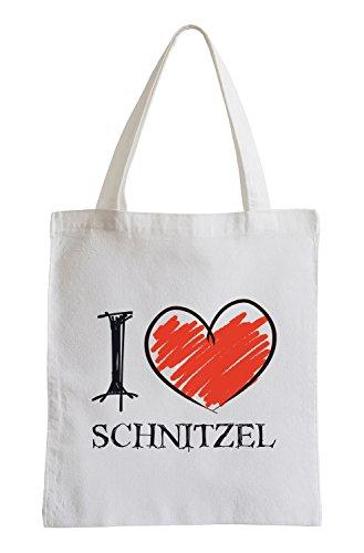 I Love Schnitzel Fun Sac de Jute
