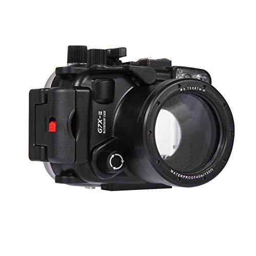 HSKB Camera Wasserdicht Hülle, Schutzhülle Gehäuse Wasserfeste Protective Cove Shell Tauchen 40M Unterwasser Kamera Tasche Waterproof Case für Canon G7 X Mark II