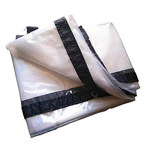 ZXF Household waterproof tarpaulin/Transparent Tarpaulin Outdoor Tarpaulin Thickening PE Rainproof Cloth Grommet Metal Buckle Polyethylene/Heavy truck tarpaulin (Size : 3X8M)