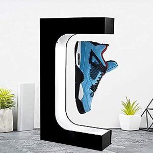 Estante magnético flotante para zapatos, 4YANG, versión actualizada de 360 °, giratorio LED, levitación magnética, control de potencia electromagnético, ventilador integrado, con luces coloridas
