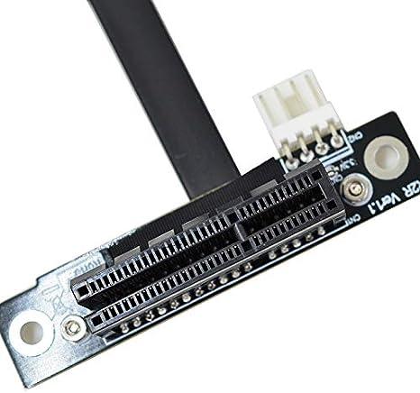 30cm,R62SF Mini PCI-e mPCIe WAN WiFi to PCIe x4 PCI-E 4X Riser Adapter Cards Gen3.0 Mini-PCIe Ribbon Cable Mini pci e for WiFi Card