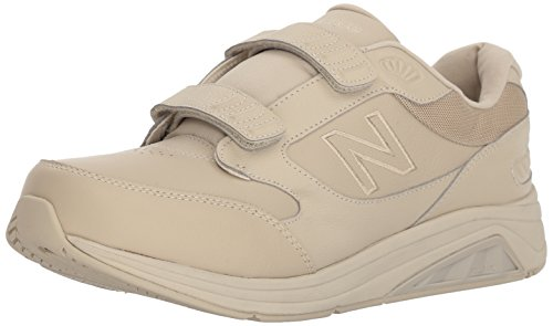 New Balance Men's 928 V3 Hook and Loop Walking Shoe, Bone/Bone, 10.5 XW US