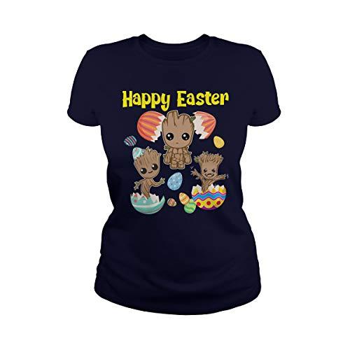 TeeWarrior Happy Easter Eggs Baby Groot Camiseta