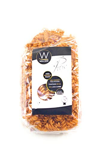 Wellside Pure Pasta Vegan - Veganuary - Organic High Protein Fusilli Low Carb Healthy Plant Based - 650g Pack