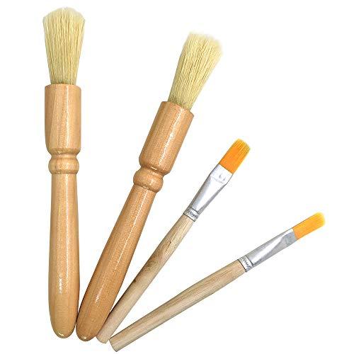 DanziX - Cepillo de limpieza de madera para molinillos y pastas (4 paquetes)
