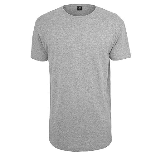 Urbandreamz Herren T-Shirt Shaped Long Tee Rundhals Grey - M -