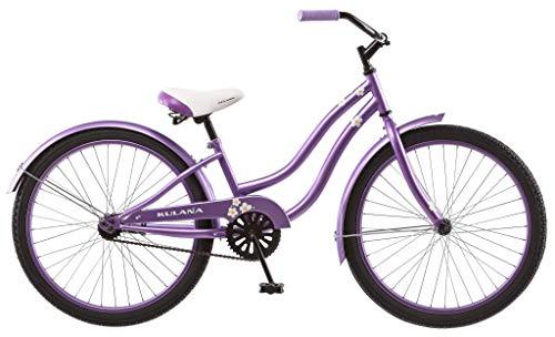 Kulana Hiku Cruiser Bike, 24-Inch Wheels, Purple