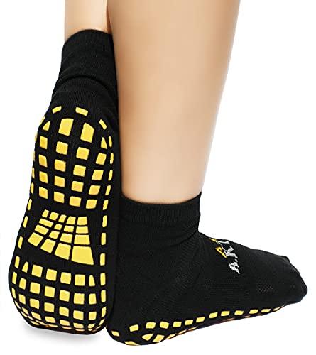 dunaro 2 Paar ABS Yoga Pilates Anti Rutsch Noppen Socken Stoppersocken Damen Herren (39-42)