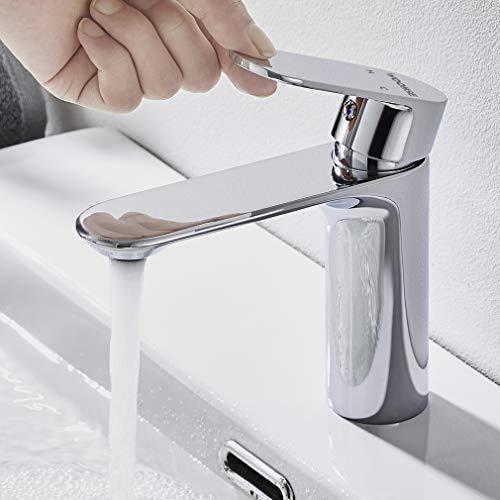 WOOHSE Wasserhahn Bad Armatur Einhandmischer Waschtischarmatur Mischbatterie Waschbecken Badarmatur Modern Waschtischmischer für Spülebecken Badezimmer, Silber