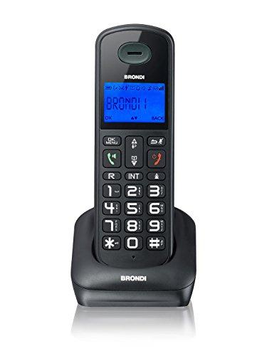 Brondi Bravo Style Telefono Cordless, Nero