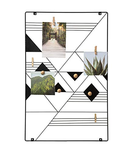 Atmosphera – Wandhalter für Fotos, zum Aufhängen, aus Metall, Schwarz, 34,8 x 1,4 x 54,7 cm